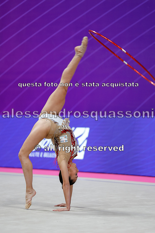 Garcia Natalia competing during the Individual Rhythmic Gymnastics World Cup at the Vitrifrigo Arena on May 28/29, 2021, in Pesaro, Italy. Natalia is a Spanish athlete born in Barcelona Spain on August 5, 1994.