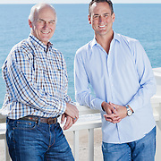 CEO of Lending Tree, Doug Lebda and his father Bob Lebda at their vacation home in Wrightsville Beach, NC.