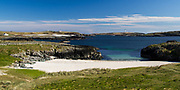 Currie Sands is a hidden beach at Claddach, near Portnahaven on the Isle of Islay