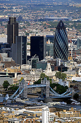 UK ENGLAND LONDON 22JUL08 - Aerial view of the City of London with the 'erotic gherkin' (R) and the NatWest Tower (L) during zeppelin flight over the city...jre/Photo by Jiri Rezac..© Jiri Rezac 2008..Contact: +44 (0) 7050 110 417.Mobile:  +44 (0) 7801 337 683.Office:  +44 (0) 20 8968 9635..Email:   jiri@jirirezac.com.Web:    www.jirirezac.com..© All images Jiri Rezac 2008 - All rights reserved.