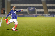 Stuart Mckinstry (Motherwell) during the U17 European Championships match between Portugal and Scotland at Simple Digital Arena, Paisley, Scotland on 20 March 2019.