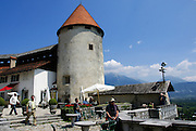 Bled Castle is a medieval castle built on a precipice above the city of Bled in Slovenia, overlooking Lake Bled.