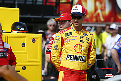 June 1, 2018 - Long Pond, Pennsylvania, United States of America - Joey Logano (22) hangs out on pit road prior to qualifying for the Pocono 400 at Pocono Raceway in Long Pond, Pennsylvania. (Credit Image: © Justin R. Noe Asp Inc/ASP via ZUMA Wire)
