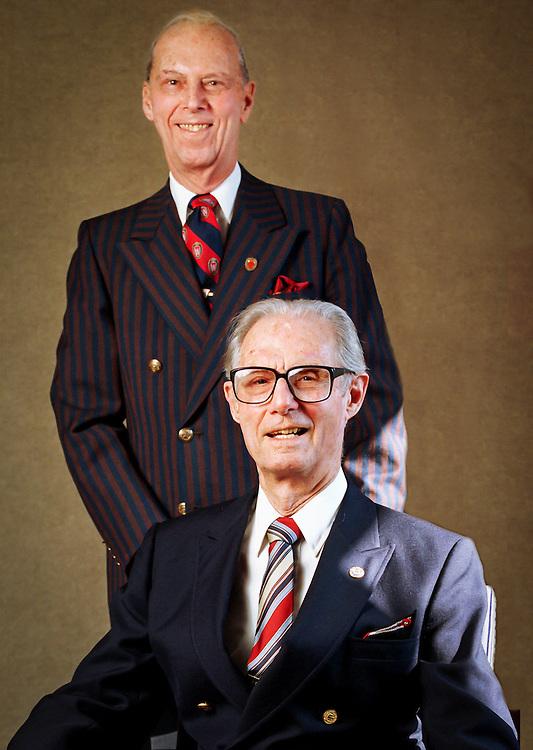 Bob, top, and Irwin Goodman, owners of Goodman's Jewelers Nov. 15, 1999. (Photo @ Andy Manis)