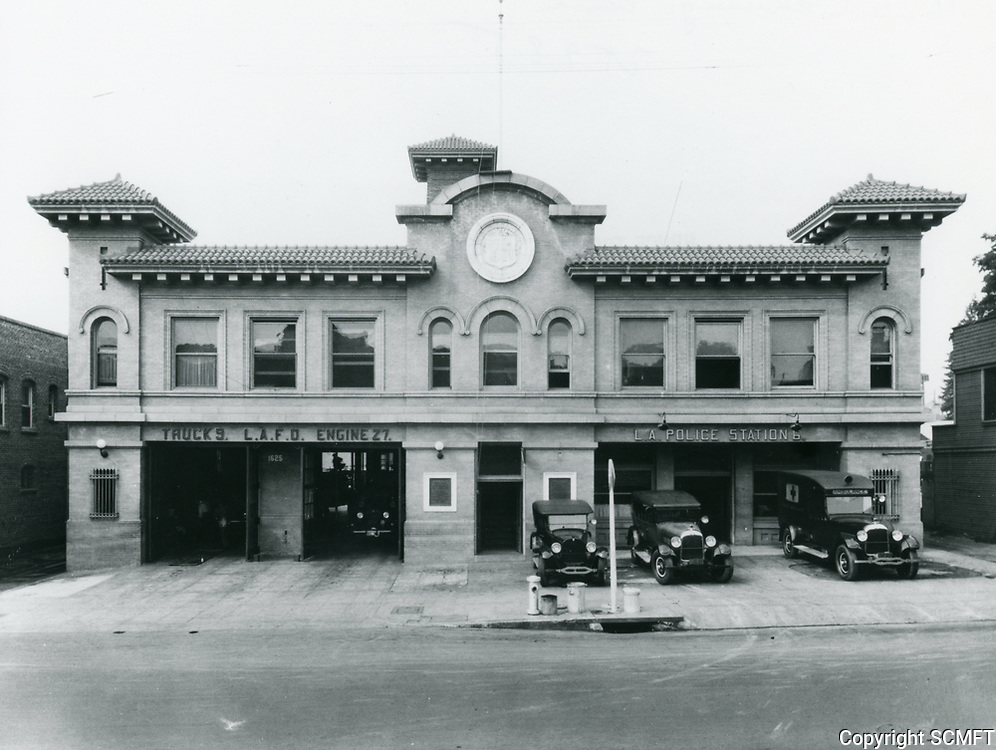 1928 Fire Station on Cahuenga Blvd. just south of Hollywood Blvd.