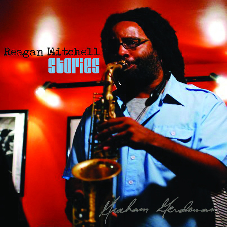 """Cover photo for saxophonist Reagan Mitchell's debut CD """"Stories"""""""