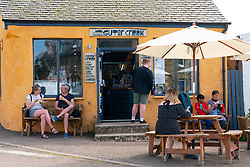 Sutor creek cafe in Cromarty village on Black Isle on Cromarty Firth, Ross and Cromarty, Scotland, UK