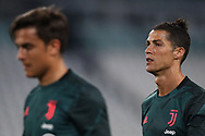 Juventus's Portuguese striker Cristiano Ronaldo with, in the foreground Argentinian striker Paulo Dybala during the Serie A match at Allianz Stadium, Turin. Picture date: 26th June 2020. Picture credit should read: Jonathan Moscrop/Sportimage