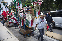 September 1, 2017 - Mexico City, Mexico City, MX - Mexican independence day merchandise for sale in Mexico City downtown. (Credit Image: © Joel Alvarez via ZUMA Wire)