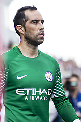 August 15, 2017 - Girona, Spain - 01 Claudio Bravo from Chile of Manchester City  during the Costa Brava Trophy match between Girona FC and Manchester City at Estadi de Montilivi on August 15, 2017 in Girona, Spain. (Credit Image: © Xavier Bonilla/NurPhoto via ZUMA Press)