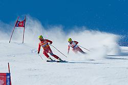 SANTACAN MAIZEGUI Yon Guide GALINDO GARCES M, ESP, Downhill, 2013 IPC Alpine Skiing World Championships, La Molina, Spain