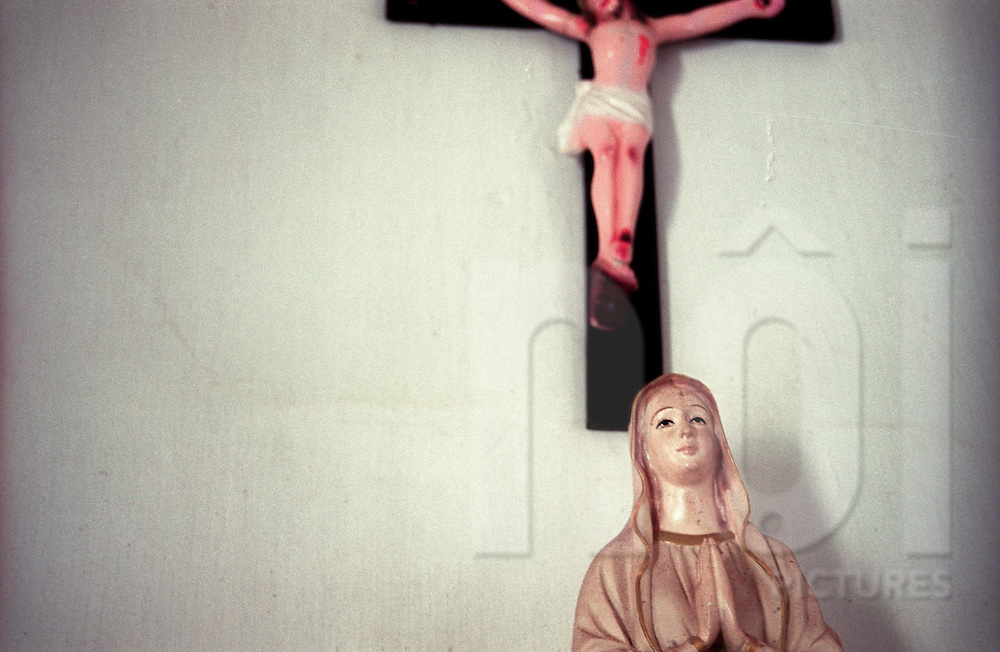 Figurines of Mary and the Christ in a church of Nam Dinh province, Vietnam, Asia