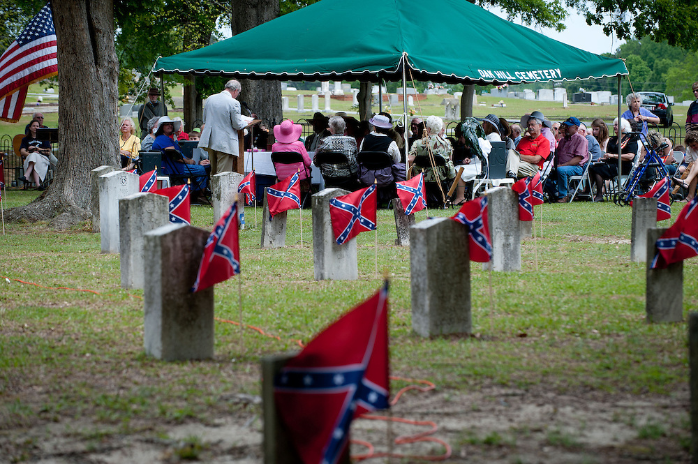 April 27, 2013; Griffin, GA, USA; Confederate Memorial Day ceremony. Photo by Kevin Liles / kevindliles.com