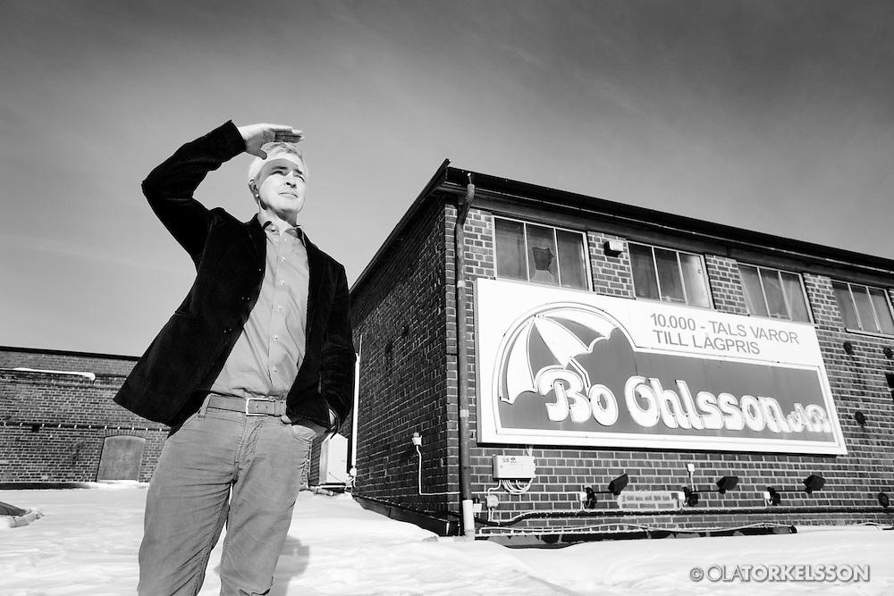 """Tomelilla, Sweden 130225<br /> Swedish entrepreneur Erik Andersson owns and heads """"Bo Ohlsson i Tomelilla"""".<br /> Photo Ola Torkelsson ©"""