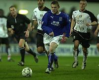 10/01/2004 - Photo  Peter Spurrier<br /> 2003/04 Barclaycard Premiership Fulham v Everton <br /> Wayne Rooney breaks through midfield