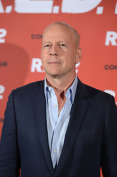 US actor Bruce Willis attends the 'R.E.D. 2' photocall at Hotel Mandarin Oriental, Munich, Germany, Wednesday July 24, 2013. Photo by Schneider-Press / W.Breiteneicher / i-Images. <br /> UK & USA ONLY
