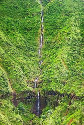 Manoa Falls, Ha`ena, Kauai, Hawaii, Pacific Ocean