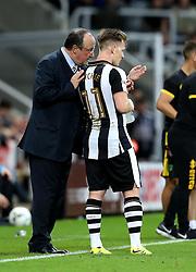 Matt Ritchie of Newcastle United is spoken to by Newcastle United manager Rafa Benitez - Mandatory by-line: Robbie Stephenson/JMP - 28/09/2016 - FOOTBALL - St James Park - Newcastle upon Tyne, England - Newcastle United v Norwich City - Sky Bet Championship