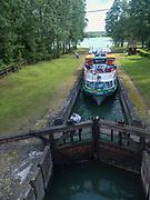 Śluza Przewięź na Kanale Augustowskim, Polska<br /> Lock on the Augustow Canal, Poland