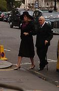 Lord and Lady Weidenfeld, Mark Birley funeral. St Paul's , Knightsbridge. London. 19 September 2007. -DO NOT ARCHIVE-© Copyright Photograph by Dafydd Jones. 248 Clapham Rd. London SW9 0PZ. Tel 0207 820 0771. www.dafjones.com.