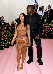 Kim Kardashian-West and Kanye West attending the Metropolitan Museum of Art Costume Institute Benefit Gala 2019 in New York, USA.