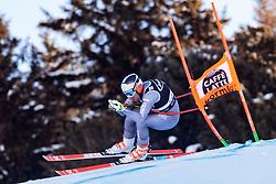 29.12.2017, Stelvio, Bormio, ITA, FIS Weltcup, Ski Alpin, alpine Kombination, Abfahrt, Herren, im Bild Maxence Muzaton (FRA) // Maxence Muzaton of France in action during the downhill competition for the men's Alpine combination of FIS Ski Alpine World Cup at the Stelvio course, Bormio, Italy on 2017/12/29. EXPA Pictures © 2017, PhotoCredit: EXPA/ Johann Groder