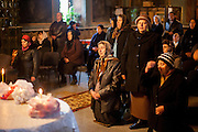 Religious service in the Orthodox Church visited by Roma and non Roma believers in the village of Marginenii de Jos.