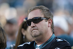 A Philadelphia Eagles fan looks dejected in the stands during the NFL game between the Detroit Lions and the Philadelphia Eagles on Sunday, October 14th 2012 in Philadelphia. The Lions won 26-23 in Overtime. (Photo by Brian Garfinkel)