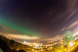 The Northern Lights, Aurora Borealis, as seen tonight from the esplanade at Stirling Castle, just before 10pm.