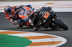November 20, 2018 - Valencia, Spain - Fabio Quartararo (20) of France and Petronas Yamaha SRT Yamaha and Andrea Dovizioso (4) of Italy and Ducati Team during the test of the new MotoGP season 2019 at Ricardo Tormo Circuit in Valencia, Spain on 20th Nov 2018  (Credit Image: © Jose Breton/NurPhoto via ZUMA Press)