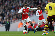 Alex Iwobi of Arsenal in action. The Emirates FA cup, 4th round match, Arsenal v Burnley at the Emirates Stadium in London on Saturday 30th January 2016.<br /> pic by John Patrick Fletcher, Andrew Orchard sports photography.