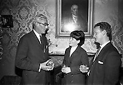 14/07/1967<br /> 07/14/1967<br /> 14 July/1967<br /> Miss Ireland-America visits Powers Distillery, John's Lane, Dublin. Pictured are (l-r): Mr John A. Ryan, Joint Managing Director, John Power and Son Ltd.; Miss Patricia McCoy, Miss Ireland-America and Mr. L. Behan, Adelphi Cinema, Dublin. Miss McCoy (21) was in Ireland for a week long visit having won her title in Newark, New Jersey.