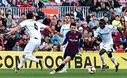 BARCELONA, May 13, 2019  Barcelona's Lionel Messi (2nd L) competes during a Spanish league match between FC Barcelona and Getafe in Barcelona, Spain, on May 12, 2019. FC Barcelona won 2-0. (Credit Image: © Joan Gosa/Xinhua via ZUMA Wire)