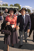 Sir Stirling and Lady Moss, Goodwood Revival Meeting. Saturday 17 September 2005.  ONE TIME USE ONLY - DO NOT ARCHIVE  © Copyright Photograph by Dafydd Jones 66 Stockwell Park Rd. London SW9 0DA Tel 020 7733 0108 www.dafjones.com
