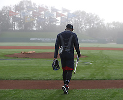 February 15, 2018 - Lake Buena Vista, FL, USA - Braves outfielder Ronald Acuna, rated the consensus No. 1 prospect in baseball this winter by several experts, heads to the batting cages in the morning fog on Thursday, Feb. 15, 2018, at the ESPN Wide World of Sports Complex in Lake Buena Vista, Fla. (Credit Image: © Curtis Compton/TNS via ZUMA Wire)