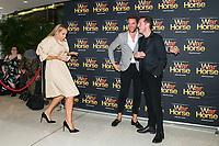 Erika Heynatz-Alex Rathgeber-Tom Bunting at the opening night of War Horse, at the Lyric Theatre, Star City on February 18, 2020 in Sydney, Australia