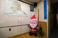 Christmas decoration at the Yukon River Camp along the Dalton Highway, Alaska