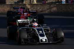 June 25, 2017 - Baku, Azerbaijan - France Formula One driver Romain Grosjean of Haas F1 Team in action during the 2017 Formula One Grand Prix of Azerbaijan at the Baku city circuit in Baku, Azerbaijan, 25 June 2017. (Credit Image: © Aziz Karimov/Pacific Press via ZUMA Wire)
