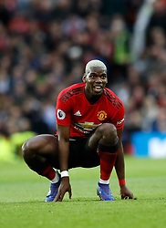 Manchester United's Paul Pogba reacts during the Premier League match at Old Trafford, Manchester.