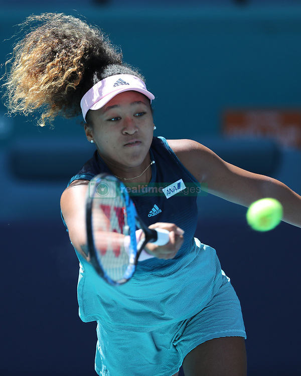 March 22, 2019 - Miami Gardens, Florida, United States Of America - MIAMI GARDENS, FLORIDA - MARCH 22:  Naomi Osaka on Day 5 of the Miami Open Presented by Itau at Hard Rock Stadium on March 22, 2019 in Miami Gardens, Florida..People: Naomi Osaka. (Credit Image: © SMG via ZUMA Wire)