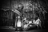 Sabthio Wambile, MR #124. with children whom she asked not to identify.