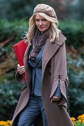 © Licensed to London News Pictures. 20/02/2018. London, UK. Secretary of State for Work and Pensions Esther McVey arrives on Downing Street for the weekly Cabinet meeting. Photo credit: Rob Pinney/LNP