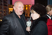 STEVEN BERKOFF; JESSICA LAMBERT;, Liberatum Cultural Honour  for John Hurt, CBE in association with artist Svetlana K-Lié.  Spice Market, W London - Leicester Square
