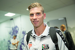 Tadej Trdina of WAC in mixed zone after the football match between WAC Wolfsberg (AUT) and  Borussia Dortmund (GER) in First leg of Third qualifying round of UEFA Europa League 2015/16, on July 30, 2015 in Wörthersee Stadion, Klagenfurt, Austria. Photo by Vid Ponikvar / Sportida