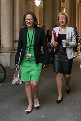 © Licensed to London News Pictures. 14/11/2018. London, UK. Baroness Evans - Lord Privy Seal and Leader of the House of Lords and Andrea Leadsom - Lord President of the Council and Leader of the House of Commons arrives in Downing Street to attend a Brexit Cabinet Meeting. Ministers will discuss, agree and vote on Brexit deal. Photo credit: Dinendra Haria/LNP