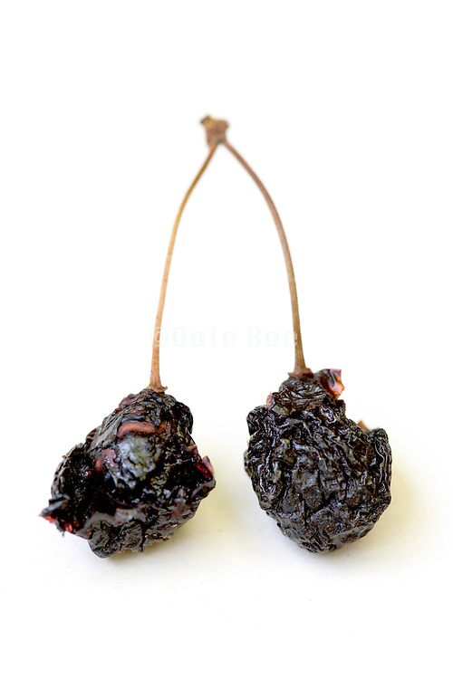 two old dried up cherries