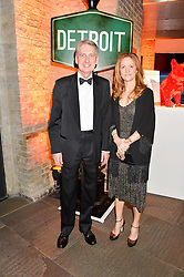 PHILIP HAMMOND MP Secretary of State for Foreign and Commonwealth Affairs and his wife SUSAN HAMMOND at A Night of Motown in aid of Save The Children UK held at The Roundhouse, Chalk Farm Road, London on 3rd March 2016.