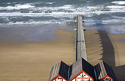 July 21, 2019 - Pier On Beach, Saltburn, North Yorkshire, England (Credit Image: © John Short/Design Pics via ZUMA Wire)