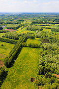 Nederland, Noord-Brabant, Gemeente Boxtel, 27-05-2013; De Scheeken, ten westen van Sint-Oedenrode. <br /> Ruilverkaveling De Scheeken maakt deel uit van het Nationale Landschap het Groene Woud. Het gebied was voor de ruilverkaveling sterk versnipperd en kende een gebrekkige ontwatering. Ruilverkaveling uitgevoerd in de jaren veertig van de vorige eeuw, wederopbouwperiode. Het onderliggende landschapsplan hield rekening met streekeigen karakter van het cultuurlandschap.<br /> National Landscape Groene Woud (Green Forest). The area was fragmented before land consolidation and had a poor drainage. Land consolidation took place in the forties of the last century, reconstruction period. The landscape plan took into account the typical local character of the landscape.<br /> luchtfoto (toeslag op standard tarieven)<br /> aerial photo (additional fee required)<br /> copyright foto/photo Siebe Swart