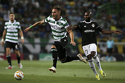 September 20, 2018 - Na - Lisbon, 20/09/2018 - Sporting CP received the Qarabag FK tonight at Alvalade Stadium, in the first match of Group E of the Europa League 2018/19. Nemanja Gudelj, Donal Guerrier  (Credit Image: © Atlantico Press via ZUMA Wire)
